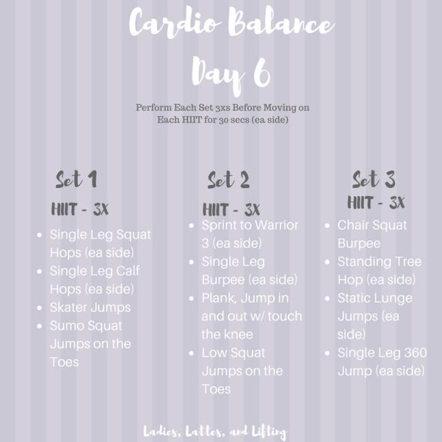 Cardio-Balance-workout-program