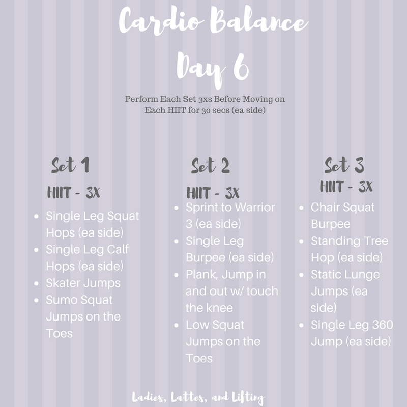 Cardio-Balance-workout-program